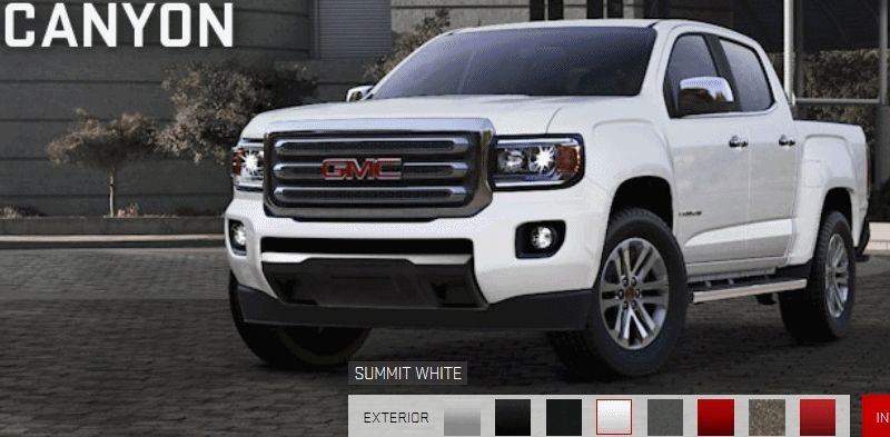 2015 GMC Canyon COLORS Guide