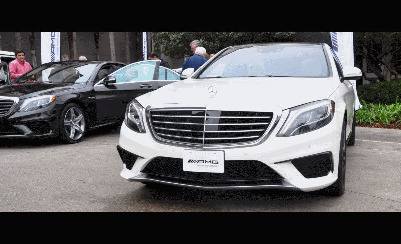 2015 S63 AMG 4MATIC White w Black RIms GIF