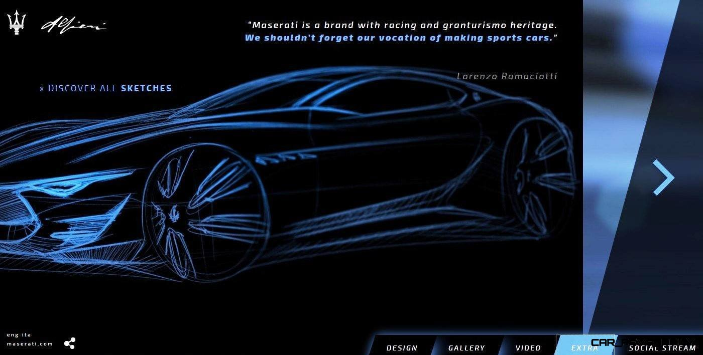 Alfieri Maserati Concept -- Analytical Assessment of the Trident's Flagship Prototype -- 52 Photos, Sketches, Reveal Images 32