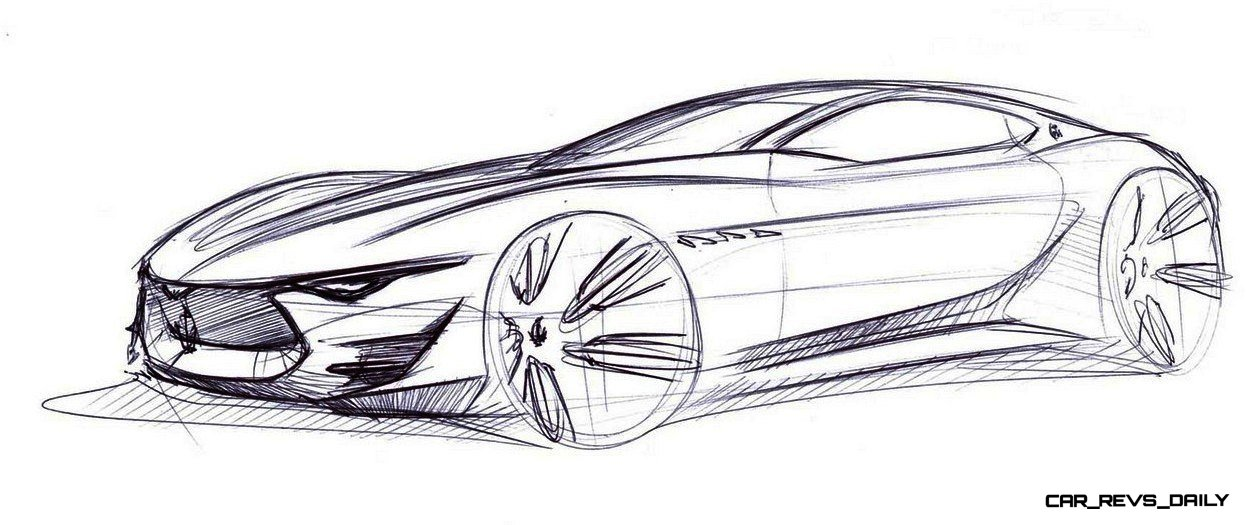 Alfieri Maserati Concept -- Analytical Assessment of the Trident's Flagship Prototype -- 52 Photos, Sketches, Reveal Images 34