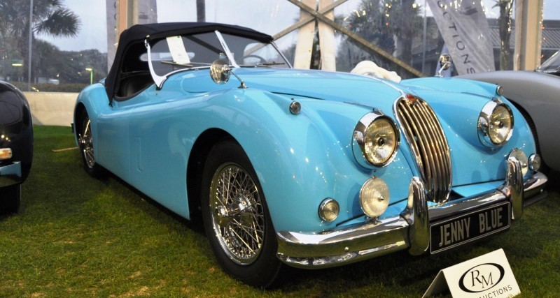 Amelia Island 2014 -- Marque Highlights -- JAGUAR -- XJR15, XK120 and even 'Jenny Blue' 1