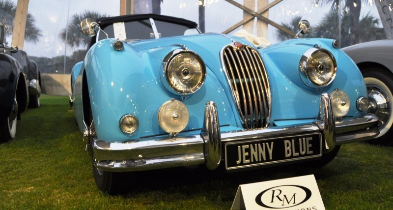 Amelia Island 2014 -- Marque Highlights -- JAGUAR -- XJR15, XK120 and even 'Jenny Blue' 2