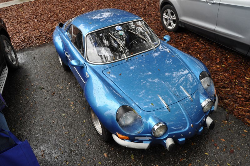Amelia Parking Lot Finds -- ~1960s (Renault) Alpine A110 -- On Cali Plates, Passenger Seat Full of Suitcases 10