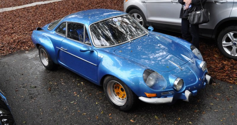 Amelia Parking Lot Finds -- ~1960s (Renault) Alpine A110 -- On Cali Plates, Passenger Seat Full of Suitcases 12