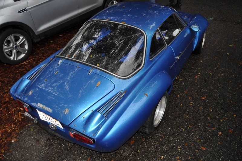 Amelia Parking Lot Finds -- ~1960s (Renault) Alpine A110 -- On Cali Plates, Passenger Seat Full of Suitcases 15