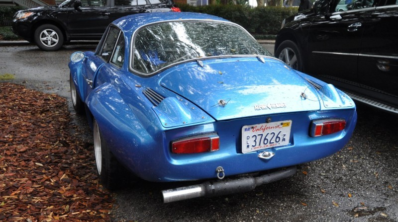 Amelia Parking Lot Finds -- ~1960s (Renault) Alpine A110 -- On Cali Plates, Passenger Seat Full of Suitcases 3