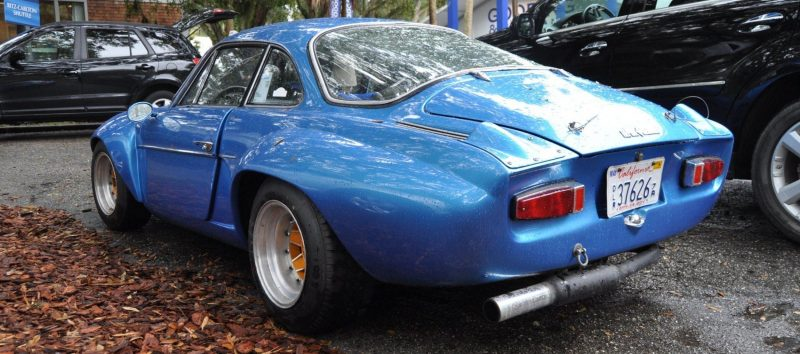Amelia Parking Lot Finds -- ~1960s (Renault) Alpine A110 -- On Cali Plates, Passenger Seat Full of Suitcases 4