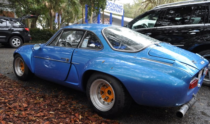 Amelia Parking Lot Finds -- ~1960s (Renault) Alpine A110 -- On Cali Plates, Passenger Seat Full of Suitcases 5