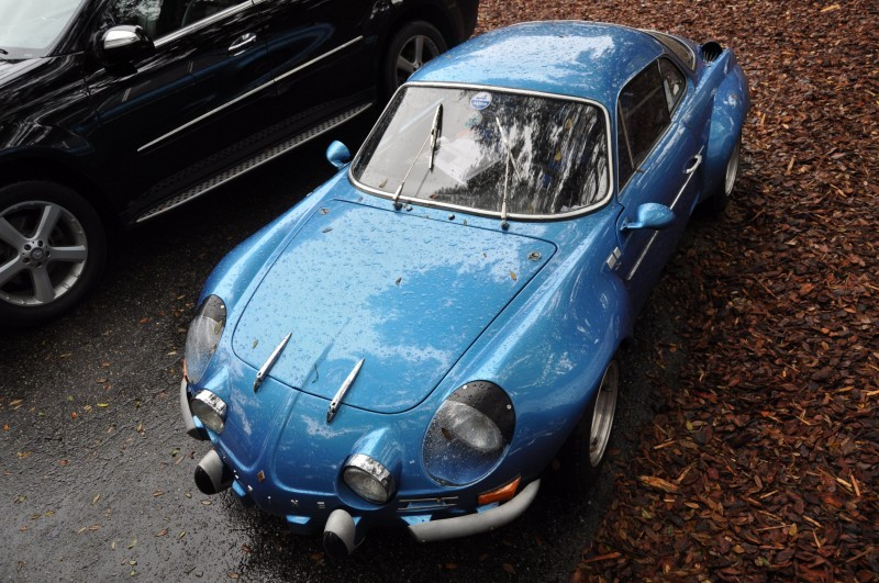 Amelia Parking Lot Finds -- ~1960s (Renault) Alpine A110 -- On Cali Plates, Passenger Seat Full of Suitcases 7