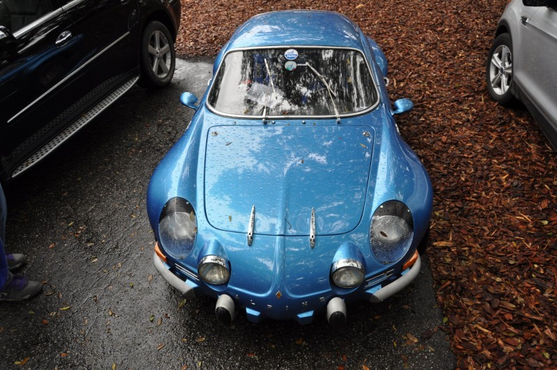 Amelia Parking Lot Finds -- ~1960s (Renault) Alpine A110 -- On Cali Plates, Passenger Seat Full of Suitcases 8
