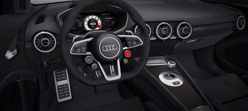 Audi TT is Fighting Fit for 2015 -- Ultra-Simple, High-Tech Interior + TT SQC Promises 3