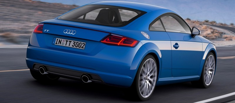 Audi TT is Fighting Fit for 2015 -- Ultra-Simple, High-Tech Interior + TT SQC Promises 3.6s 60-mph Sprint 45