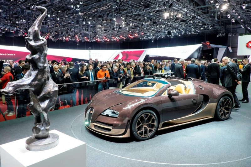 BUGATTI Marque Showcase -- Geneva, Salon Prive and Pebble Beach -- Veyron Vitesse and GS Rembrandt -- Plus Venet, Jean Bugatti, L'Or Blanc and GS Vitesse 43