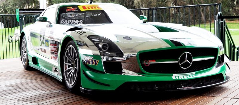 Black Swan SLS AMG GT3 In Detail -- Incredibly Fascinating Aerodynamic Solutions Under Disguise Mirror Wraps 1