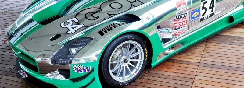 Black Swan SLS AMG GT3 In Detail -- Incredibly Fascinating Aerodynamic Solutions Under Disguise Mirror Wraps 13