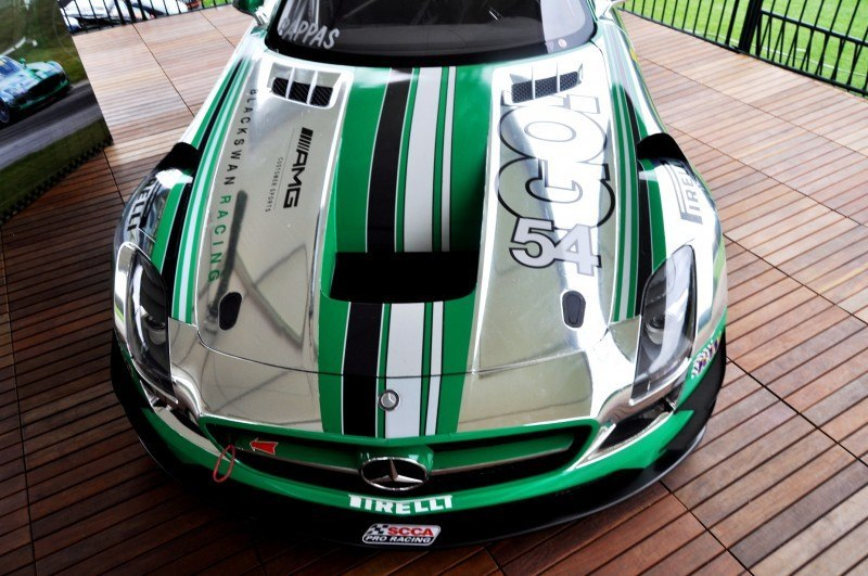 Black Swan SLS AMG GT3 In Detail -- Incredibly Fascinating Aerodynamic Solutions Under Disguise Mirror Wraps 16