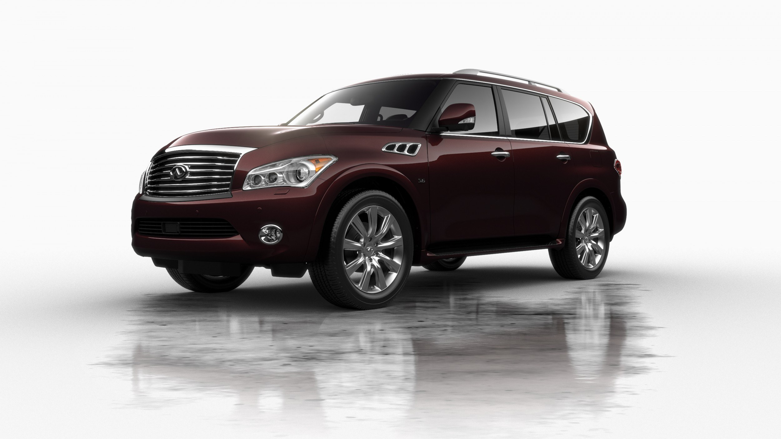 car revs 2014 infiniti qx80 buyers guide pricing colors and specs 34. Black Bedroom Furniture Sets. Home Design Ideas