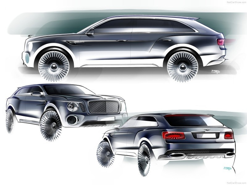 Car-Revs-Daily.com -- #NewBentley SUV First Official Image Plus the EXP 9F Falcon Concept 15