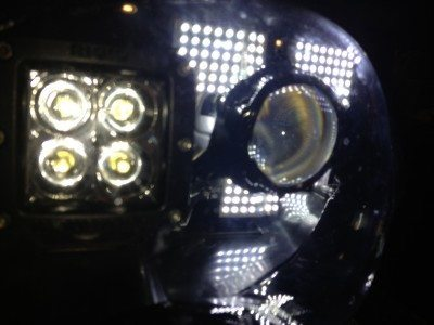 DIY LED Headlights v70 indoor pair testing_8170828533_l