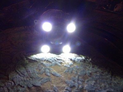 DIY LED Headlights v80 testing quad 3W white points_8185583015_l