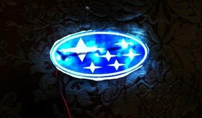 DIY LED Subaru stars emblem_8159090691_l