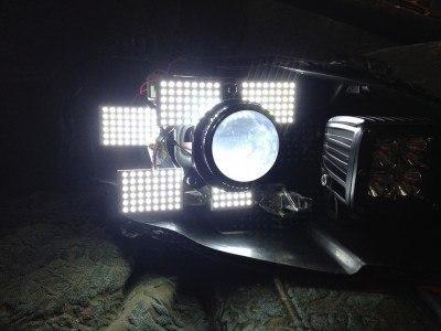 DIY LED headlights v70 - 4X White LED 48-SMD DRL_8170665420_l