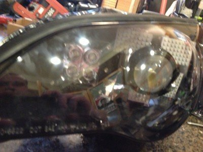 DIY LED headlights v70 - 4X White LED 48-SMD DRL_8170667088_l