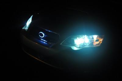 DIY LED lights and LED subaru badge emblem_7695843900_l