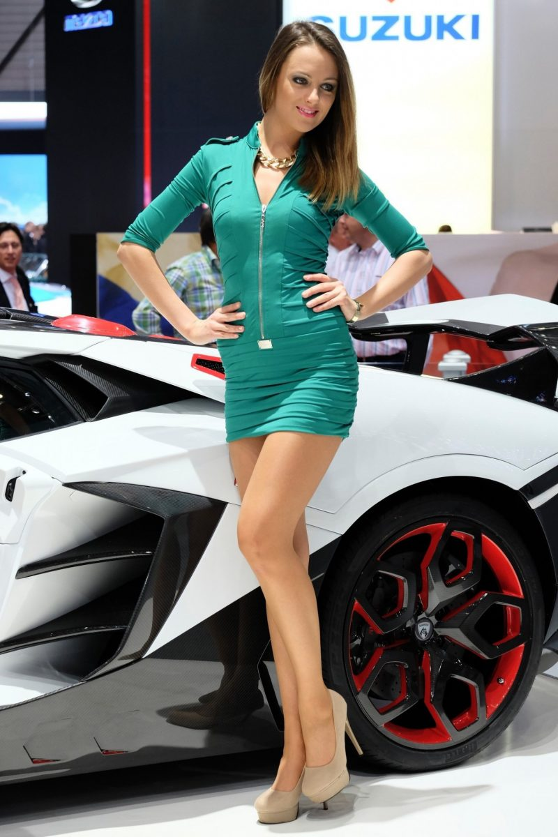 Geneva 2014 Booth Babes Teach MasterClass in Slinky, Camera-Ready Pouts -- 15 Ultra-HR Photos 13