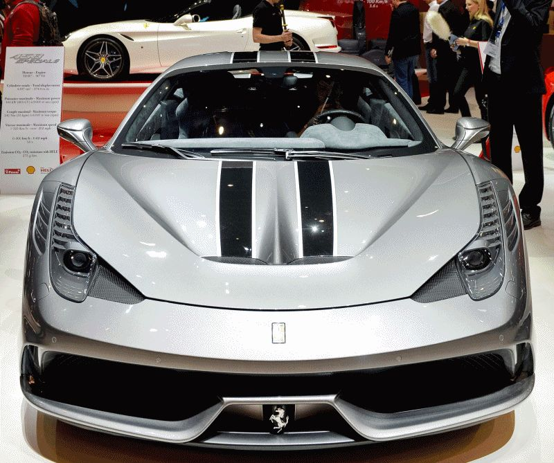 Geneva 2014 ShowFloor -- Ferrari California T, 458 Speciale and F12 Looking Brilliant GIF 2