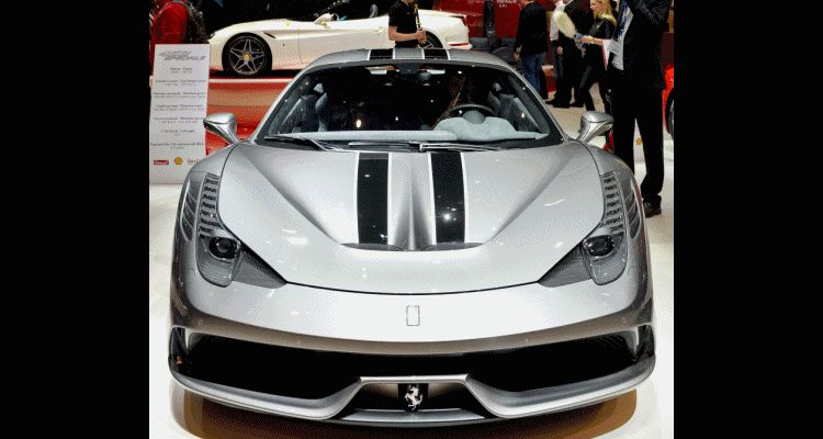 Geneva 2014 ShowFloor -- Ferrari California T, 458 Speciale and F12 Looking Brilliant GIF