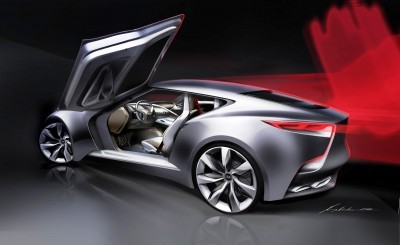 HYUNDAI Coupe Designs i-ONIQ and HND-9 7