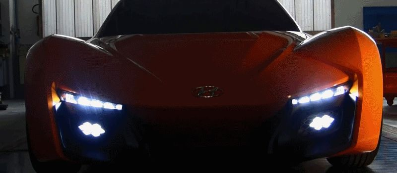 Hyundai PassoCorto Sports Car Is Torino Design GIF