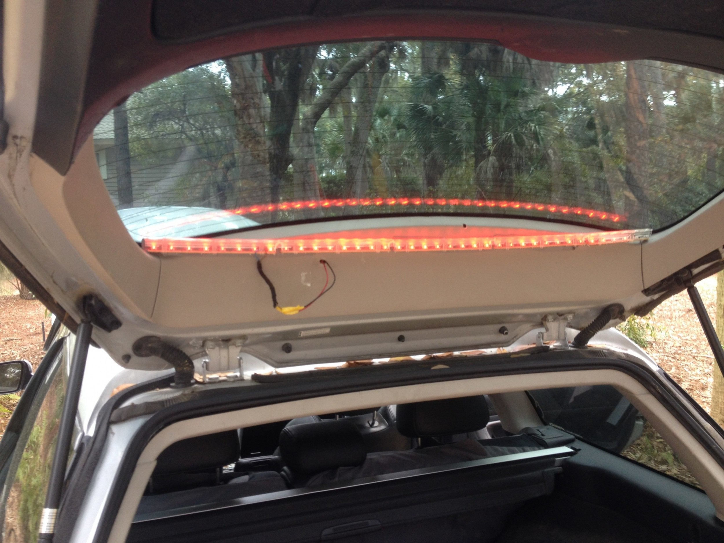 Top Cosmetic Mods Part Four Diy Led Brake Light Bar Under Gmc Third Wiring Adjust Mounting Position Slightly To Make Sure It Is A Pure Horizontal Line Of Takes Some Tweaks Find The Right Shape Inside Deliver