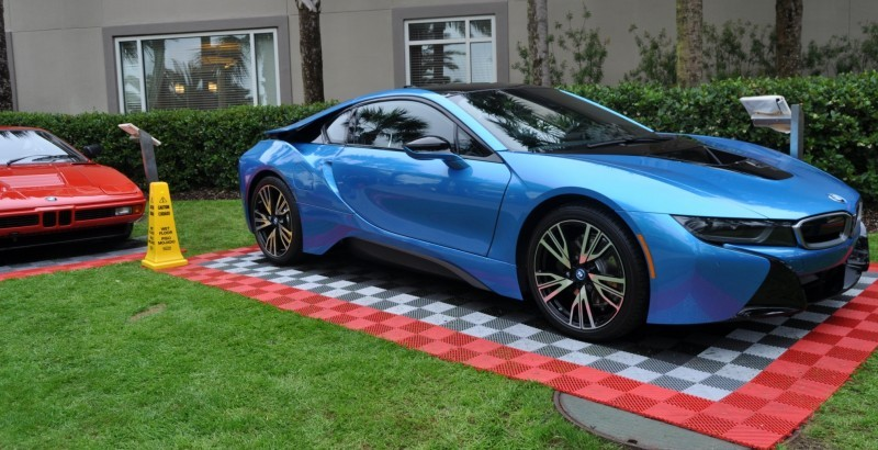 Inimitable Future-Tech 2015 BMW i8 Feeling Chummy with Concept M4 and 1980 BMW M1 -- Fleming Flashbacks 2