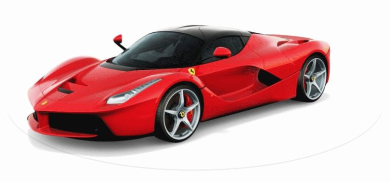 LaFerrari Rosso Corsa Animated Turntable GIF