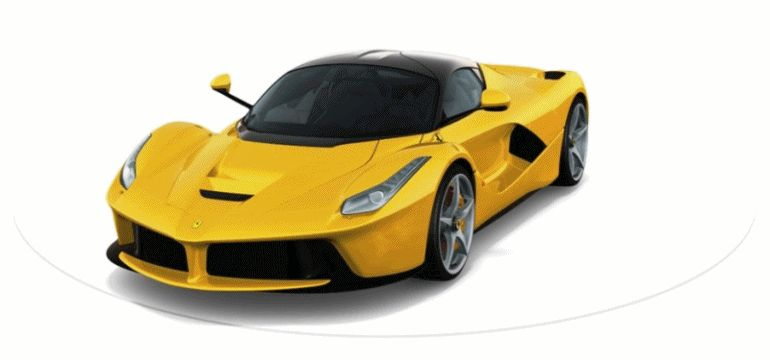 LaFerrari YELLOW Animated Turntable GIF