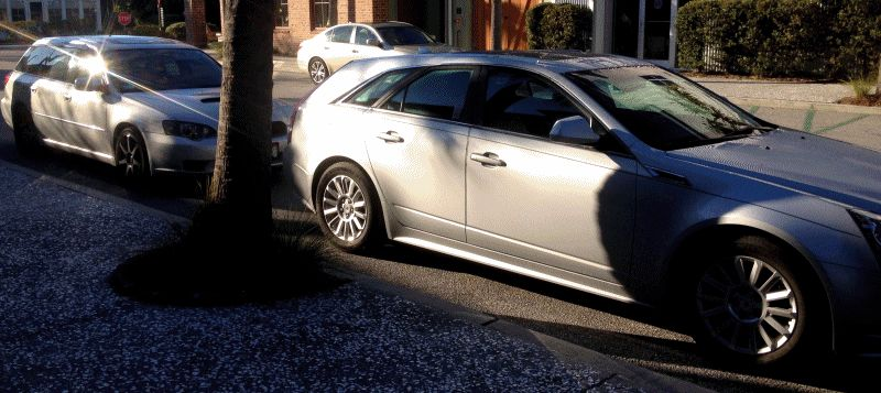 My 30PSI-Boosting Subaru Legacy GT on HD GoPro Video + Photo Comparo vs Cadillac CTS 3.6 Wagon 1