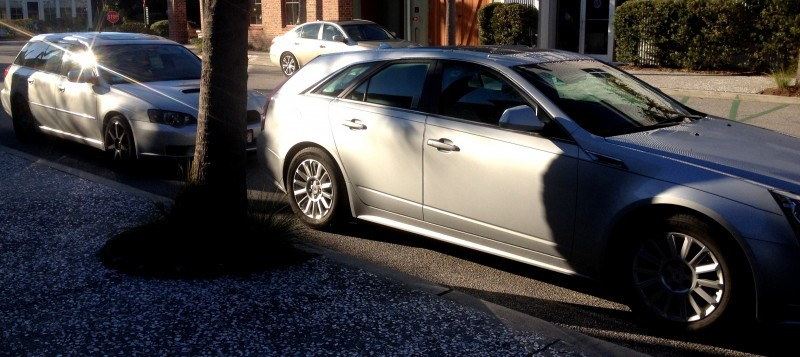 My 30PSI-Boosting Subaru Legacy GT on HD GoPro Video + Photo Comparo vs Cadillac CTS 3.6 Wagon 2