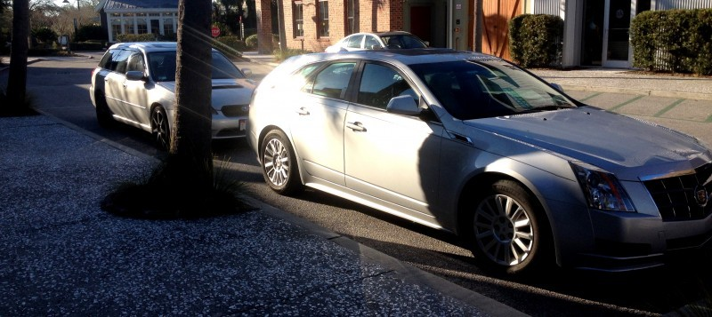 My 30PSI-Boosting Subaru Legacy GT on HD GoPro Video + Photo Comparo vs Cadillac CTS 3.6 Wagon 3