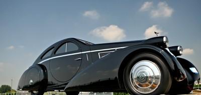 Peterson Auto Museum - 1925 Rolls-Royce Phantom I - 1934 Jonkheere Round Door Aero Coupe 9