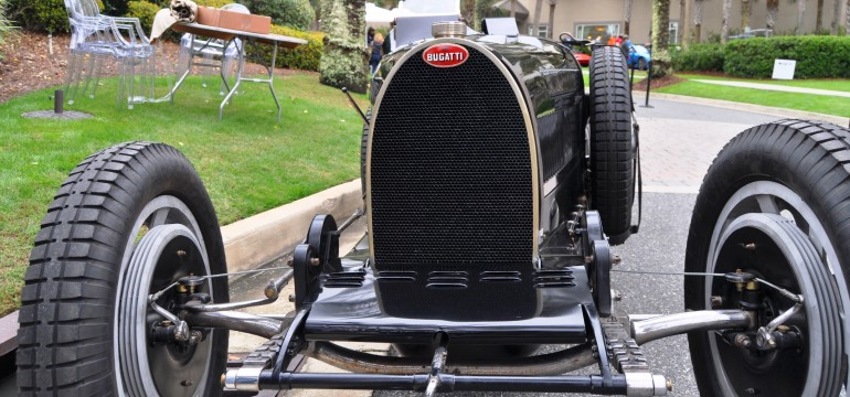 PurSang Argentina Shows Innovative Marketing with Street-Parked 1920s Bugatti GP Car