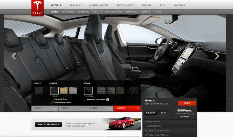 TESLA MODEL S ANIMATION 2 INTERIOR GIF