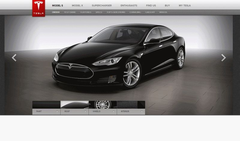 TESLA MODEL S ANIMATION -- BUILDER