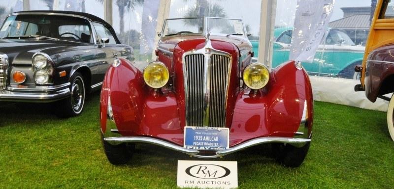 Video Walk-Around + 33 Photos -- 1935 Amilcar G36 Pegasé Boattail Roadster -- RM Auctions Amelia 2014 $467k 25