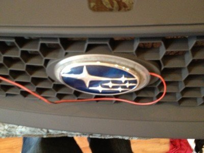 subaru DIY LED badge - indoor testing - emblem comparisons_8072296478_l