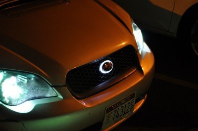 subaru legacy gt DIY led headlights and emblem_8215403729_l