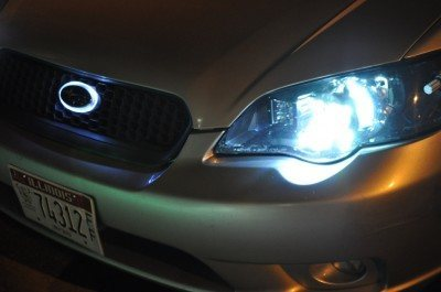 subaru legacy gt DIY led headlights and emblem_8216488262_l