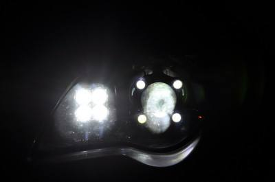subaru legacy gt DIY led headlights and emblem_8216491196_l