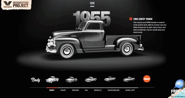 1955 VALVOLINE Reinvention Chevy Truck GIF1